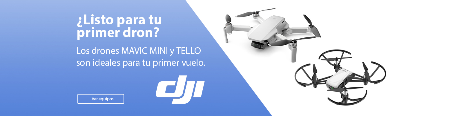 dron mavic mini y dron tello DJI
