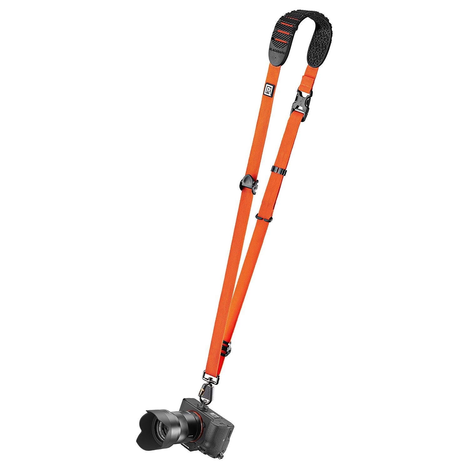 """(361002) CORREA PARA CÁMARA CRUZADA CROSS SHOT BREATHE COLOR NARANJA"""