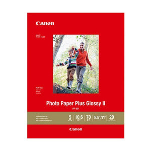 """Papel Fotográfico Plus Glossy II PP-301 8.5 x 11"""" 20 HOJAS"""