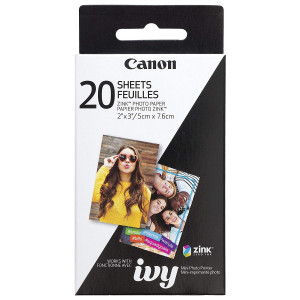 """Papel 2 x 3"""" ZINK Photo Paper Pack (20 Hojas) para Mini printer PV 123 IVY"""