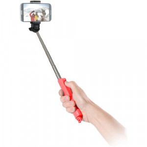 (SP-BTSW-RD) BASTON PARA SELFIE POR BLUETOOTH CON FUNCION DE ZOOM (ROJO)