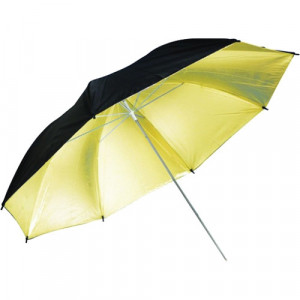 SOMBRILLA NEGRO/DORADO - BLACK/GOLD PUR-36BG DE 36 PULGADAS-savage-Black/Gold Umbrella 36