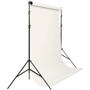 """PORTAFONDOS 62037-50K BACKGROUND PORT-A-STAND KIT CON CICLORAMA BLANCO SAVAGE (3.14M X 2.84M)"""