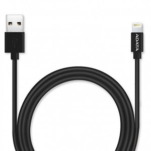 """ADATA CABLE APPLE  Lightning-PLASTIC NEGRO AMFIPL-100CM-CBK"""
