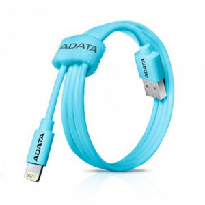 """ADATA CABLE APPLE  Lightning-PLASTIC AZUL AMFIPL-100CM-CBL"""