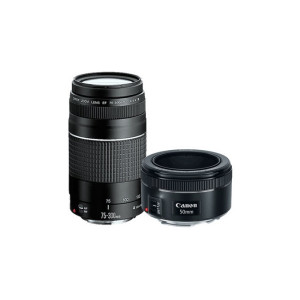 """EF 50MM F/1.8 STM Y EF 75-300MM F/4.0-5.6 III (KIT 2 LENTES)"""