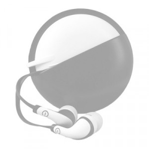 615604995241 AUDIFONOS IN-EAR CON MICROFONO (GRIS/BLANCO)