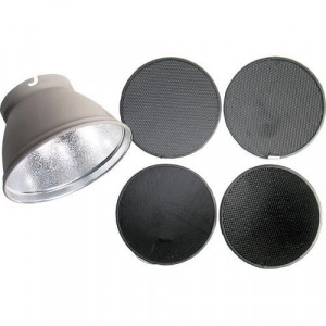 (26051) KIT REFLECTOR DE 21CM 50° C/ REJILLAS DE 30°, 20°, 12°, 8  719821238850