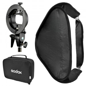 godox caja suavizadora sfuv6060 s-type bracket 60x60 cm softbox bag 708302967082