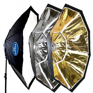 Savage Modmaster Multi-fabrica Softbox Octagonal octabox plata dorado 200cm 731409156141